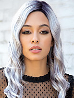 cheap -Synthetic Wig Curly Asymmetrical Wig Short Silver grey Synthetic Hair Women's Fashionable Design Exquisite Comfy Gray