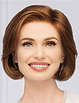 cheap -Synthetic Wig Straight Asymmetrical Wig Short Blonde Synthetic Hair Women's Fashionable Design Classic Exquisite Blonde