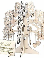 cheap -wedding guest book alternative tree,3d wooden wishing tree with 100pcs hearts,unique rustic guestbook memory table sign for birthday party graduation home decor creative gift diy wood crafts
