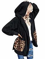 cheap -ulanda winter coats for women plus size thermal faux fur fleece jacket sherpa lined zip up fluffy hoodies cardigan