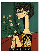 cheap -100% Hand painted Oil Painting Modern Abstract Face Picasso Wall Art Pictures Nordic Fashion Style Living Room Canvas Painting Custom