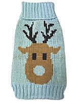 cheap -pet dog clothes blue deer sweater (xl)