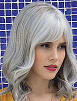 cheap -Synthetic Wig Curly With Bangs Wig Long Dark Brown Brown Grey Synthetic Hair Women's Fashionable Design Classic Exquisite Brown Gray