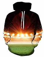 cheap -Inspired by Cosplay Lights Cosplay Costume Hoodie Plush Fabric 3D Printing Hoodie For Men's / Women's