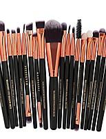 cheap -20 pcs makeup brush set tools make-up toiletry kit wool make up brush set (multicolor e)