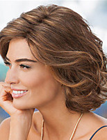 cheap -Synthetic Wig Curly Asymmetrical Wig Short Light Brown Synthetic Hair Women's Fashionable Design Exquisite Light Brown