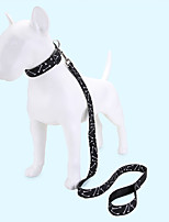 cheap -Dog Cat Pets Collar Leash Cute and Cuddly Decoration Nylon Pink
