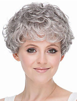 cheap -Synthetic Wig Curly Asymmetrical Wig Short Grey Synthetic Hair Women's Fashionable Design Classic Exquisite Gray