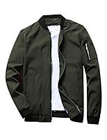 cheap -men's flight bomber jacket lightweight softshell coat sportwear zipper windbreaker green 2xl