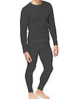 cheap -men's cotton thermal underwear set shirt pants long johns charcoal