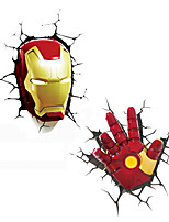 cheap -Creative 3D stereo car sticker color paste personality body simulation small yellow man Avengers decorative stickers
