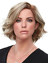 cheap -Synthetic Wig Curly Bob Wig Short Blonde Synthetic Hair 8 inch Women's Fashionable Design Exquisite Fluffy Blonde