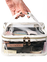 cheap -Travel Organizer Cosmetic Bag Travel Toiletry Bag Large Capacity Waterproof Travel Storage With Top Carry Handle Transparent Marble PVC(PolyVinyl Chloride) For Everyday Use Cycling Portable / Durable