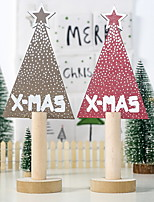 cheap -Christmas Decorations Painted Letters Christmas Tree Decorations Wooden Table Pendulum