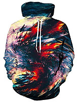 cheap -unisex cool hoodies 3d digital printed hooded jacket for men women xmas pullover sweatshirt small