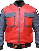 cheap -men's red and grey bomber synthetic leather biker jacket for men,3xl