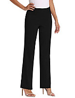 cheap -women's bootcut stretch elastic waist slim, black-belt buckle, size 16.0
