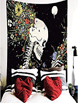 cheap -decor tapestry flowers and skeleton elegant hippie psychedelic wall art romantic tapestries for dorms bedroom living room colorful decor & #40;51.2 x 59 inches& #41;