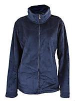 cheap -womens bonded velboa full zip polar fleece jacket, navy