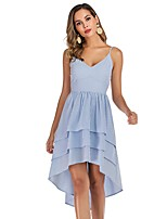 cheap -Women's Strap Dress Short Mini Dress - Sleeveless Striped Backless Summer Sexy Party Slim 2020 Light Blue S M L XL XXL