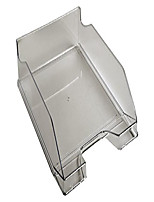 cheap -office letter tray combo midi - grey transparent glossy
