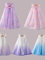 cheap -Princess Cosplay Costume Masquerade Girls' Movie Cosplay Vacation Purple / Light Purple / Blue Cloak Halloween Children's Day Masquerade Organza Cotton