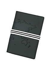 cheap -Travel Wallet Passport Holder & ID Holder Document Organizer Anti-theft RFID Blocking Casual Traveling PU Leather Stripes Gift For Men and Women 10.5*1*14.5 cm