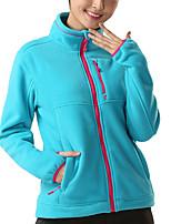 cheap -Women's Hiking Jacket Hiking Fleece Jacket Winter Outdoor Solid Color Waterproof Windproof Fleece Lining Breathable Jacket Full Length Visible Zipper Hunting Fishing Climbing Purple Fuchsia Blue Green