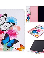cheap -Case For Apple iPad Pro (2020) 11'' iPad 7 (2019) 10.2'' iPad Air 3 (2019) 10.5'' Wallet Card Holder with Stand Full Body Cases Two Butterflies PU Leather TPU for iPad 5 (2017) 9.7'' iPad 6 (2018) 9.7
