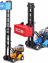 cheap -KDW 1:50 Plastic Alloy Container Truck Stacker Engineering Vehicle Alloy Car Model Deformation Simulation All Adults Kids Car Toys