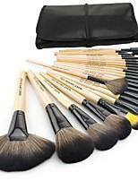 cheap -fashion make up for you pro 24pcs makeup brushes make up brush set cosmetic tool kit(brown)