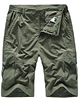 cheap -men's outdoor lightweight quick dry hiking shorts sports casual shorts army green us 34