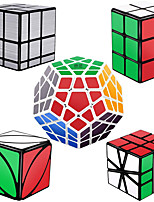 cheap -Speed Cube Set 5 pcs Magic Cube IQ Cube 2*2*2 3*3*3 Speedcubing Bundle 3D Puzzle Cube Stress Reliever Puzzle Cube Stickerless Smooth Office Desk Toys Pyramid Mirror Cuboid Kid's Adults Toy Gift