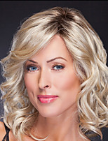cheap -Synthetic Wig Curly Asymmetrical Wig Short Brown Blonde Synthetic Hair Women's Fashionable Design Exquisite Romantic Blonde Brown