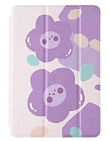 cheap -Case For Amazon HD8(2020) Amazon HD8(2017) Amazon Fire7(2017) with Stand Flip Pattern Full Body Cases Purple Flower PU Leather TPU for Amazon HD8(2016) Amazon Fire7(2015)