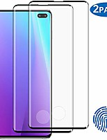 "cheap -2-pack galaxy s10 plus tempered glass screen protector, 9h hardness/anti-fingerprint/ultra-clear/bubble free 3d curved tempered glass film for samsung galaxy s10 plus/s10+ (6.4"")"