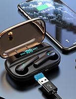 cheap -LITBest ES66 Bluetooth 5.0 Earphone Headphones Touch Control Waterproof Sport Earbuds LED Display