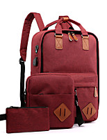 cheap -3pcs Travel Bag Laptop Backpack College Bookbag Large Capacity Waterproof with USB Charging Port Casual Outdoor Travel Nylon Fits 15.6 Inch Laptop Gift For Men and Women 30*14*43 cm