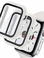 cheap -2 pack hard pc case with tempered glass screen protector compatible apple watch series 6/5/4/se 40mm, case for all around coverage protective bumpers cover for iwatch series 6/5 /4 /se 40mm