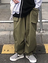 cheap -Women's Sporty Outdoor Loose Daily Pants Chinos Pants Solid Colored Full Length High Waist Black Army Green
