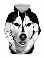 cheap -Inspired by Animal Dog Cosplay Costume Hoodie Plush Fabric 3D Printing Hoodie For Men's / Women's
