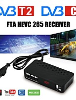 cheap -FTA DVB T2 HEVC 265 TV Receiver DVB-C Digital TV Tuner Decoder DVB-T2 Full HD H.265 DVBT2 Set-top Box Youtube IP TV Megogo USB