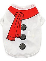cheap -christmas party knitted dress for dog sweater christmas theme snowman pet shirt
