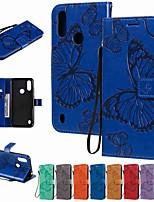 cheap -Case For Motorola MOTO E6S (2020) MOTO E6 plus MOTO G8PLAY Wallet Card Holder with Stand Full Body Cases Butterfly PU Leather TPU for Moto G8 Power Lite Moto G Power Moto E7