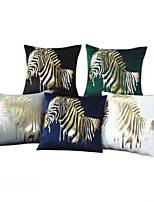 cheap -5 pcs Velvet Pillow Cover, Animal Square Traditional Classic