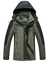 cheap -Men's Hiking Jacket Hiking Windbreaker Outdoor Patchwork Thermal Warm Waterproof Windproof Breathable Jacket Hunting Fishing Climbing Black Red Army Green Blue Green / Camping / Hiking / Caving