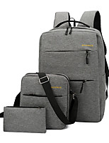cheap -3pcs Travel Bag Laptop Backpack College Bookbag Large Capacity Waterproof with USB Charging Port Casual Outdoor Travel Nylon Fits 15.6 Inch Laptop Gift For Men and Women 30*45*14 cm