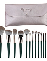cheap -14 Pcs green cloud makeup brushes set small grape series makeup tool brushes
