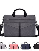cheap -13.3 Inch Laptop / 14 Inch Laptop / 15.6 Inch Laptop Sleeve / Shoulder Messenger Bag / Briefcase Handbags Polyester Solid Colored / Textured for Men for Women for Business Office Waterpoof Shock Proof