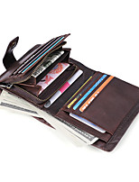 cheap -Travel Wallet Document Organizer Card Holder Anti-theft RFID Blocking Everyday Use Security Genuine Leather Classic Vintage Gift For Men's Women's 11.5*9.5*2.5 cm